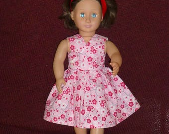 18 Inch Doll Dresses: Pink Dresses (3 Options)