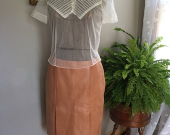 Late 80s/90s Leather Danier Skirt