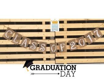 Congratulations Burlap, Class Of 2017 Banner, Graduation Decor, Congrats Grad, Congrats Banner, Graduation Banner, Burlap Banner