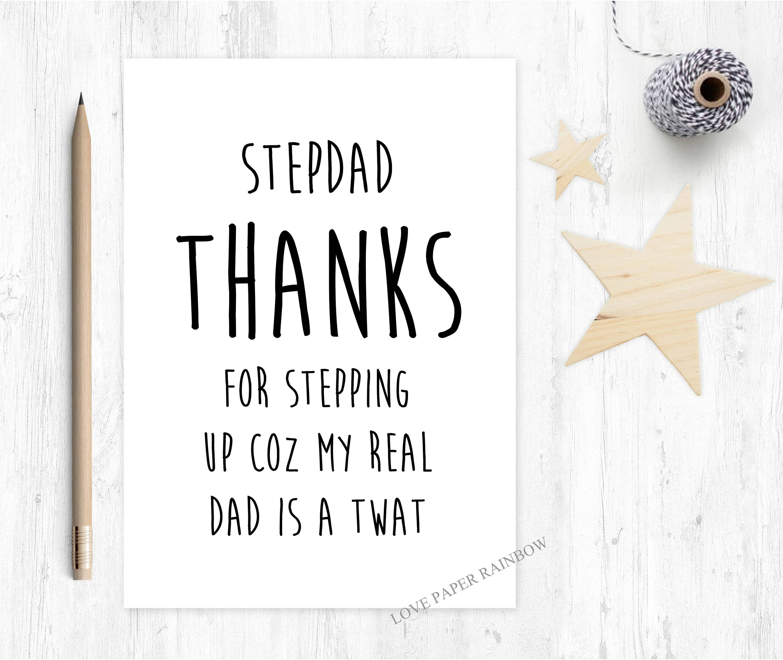stepdad card stepdad birthday card thanks for stepping up – Step Dad Birthday Cards