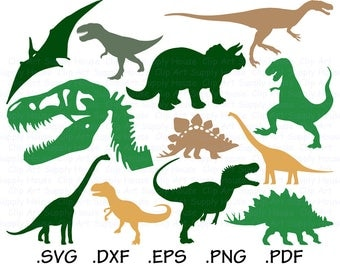 Dinosaur SVG, T-Rex Clipart, Dinosaur PNG, Silhouette and Cricut Files, Dinosaur svg bundle, Trex svg designs, Dino cut file - CA446