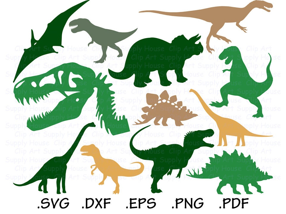 Download Dinosaur SVG T-Rex Clipart Dinosaur PNG Silhouette and