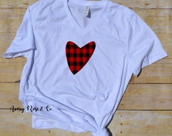 Valentine's Day Graphic Tee, Heart Graphic T-Shirt