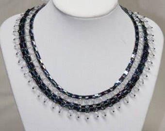 Black tila necklace