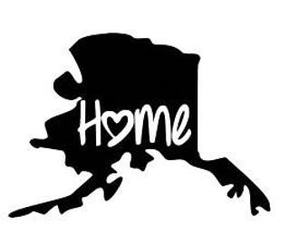 Alaska Decal, YOU PICK COLOR, alaska Home Decal, alaska Car Decal, Alaska sticker, Alaska car sticker, Alaska window sticker