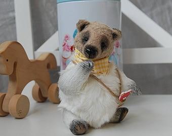 "Miniature bear, Rachel, 5.9"",15 cm Marshmallow, stuffed bear, OOAK,Teddy bear, artist teddy bear, collectible toy, artist bears, little bear"