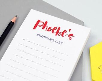ON SALE Script Shopping List Notepad - Personalized Notepad - Personalized Paper Pad - Custom To Do List - Custom Paper Pad - Back To School
