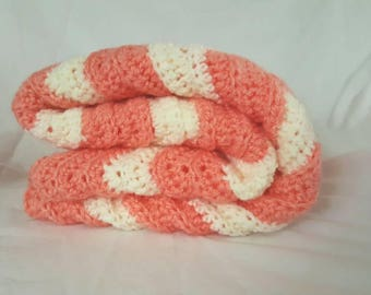 Baby Blanket - Peaches and Cream