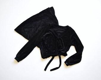 1970s velvet midi belted dress | size small | V-neck | elastic waist belted midi dress | 1970s crushed velvet vintage dress