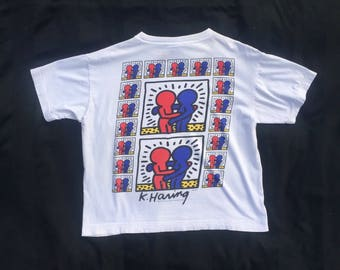 1992 'Estate of Keith Haring' Original Vintage T-Shirt Collectors Item