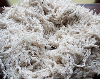 off white boa snood hand made