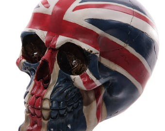 Union Jack SKULL Ornament Goth Biker British Flag