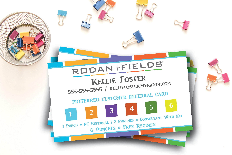 Rodan and Fields Preferred Customer Punch Cards Rodan