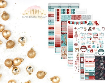 Winter Wonderland Kit | Winter Stickers | Weekly Kit | Christmas Kit | Planner Stickers designed for use with the Erin Condren Life Planner