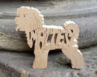 Maltese, Maltese jigsaw,  Maltese ornament, Maltese puzzle,, Maltese  memorial, wooden Maltese, gift for dog lovers