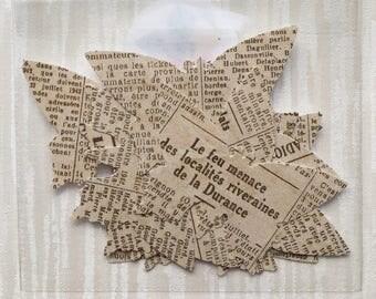 Newsprint style paper butterflies