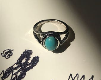 Turquoise Oval Stone Ring
