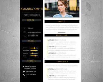 CV Template / Resume Template  | 1 Best Curriculum Vitae Design + Cover Letter | AI format