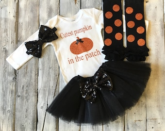 Pumpkin patch outfit | Etsy
