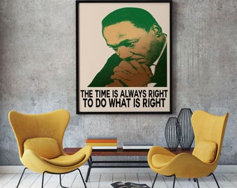 Martin Luther King Inspiring Quote Motivational Quote MLK Wall Art Luther King Quotation Inspiring Quote Inspirational Poster Motivational