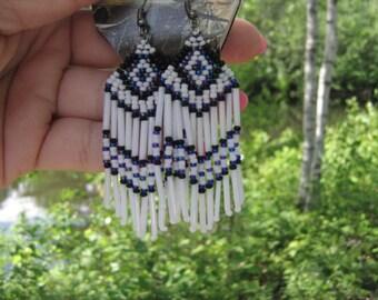 Earrings Miyuki native American