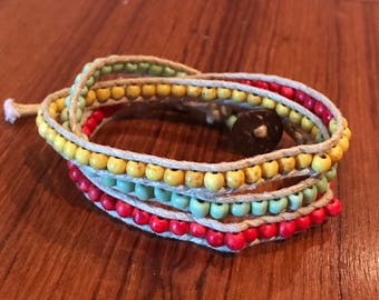 Three Wrap Bracelet