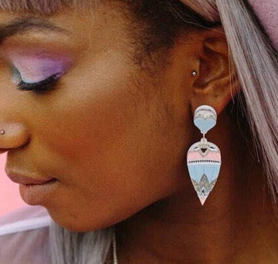 Egyptian Drop Acrylic Earrings