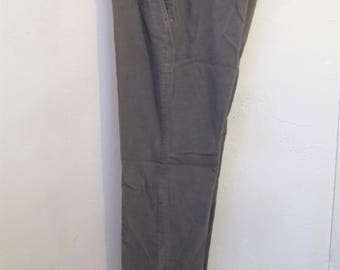 Men's,Vintage 80's,Gray FLAT FRONT Style C0RDS By HAGGAR.33x31