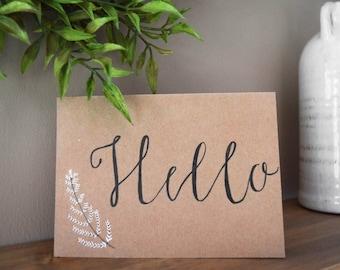 Greeting Card: 'Hello'