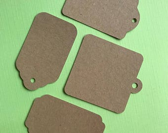 20 Square or rectangular tags