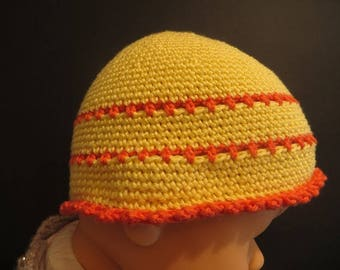Nice Hat striped baby girl 0-3 months