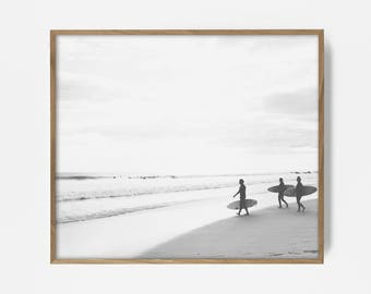 bw surfer print, surfing decor, black white surf, surfer print, surfing art, surfing decor, surfing wall art, surfing pall print, bw sufing