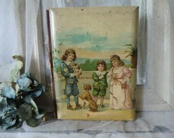 """Vintage antique ~ sweet vintage kids photo album """"For EMMA"""""""