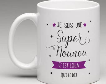 mug personalized for a great nanny