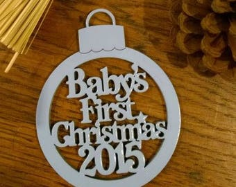 Baby's 1st Christmas Bauble, Baby's First Christmas Tree Decoration, Baby's 1st Xmas Bauble, Baby's 1st Christmas Bauble, Tree Ornament