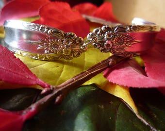 "Eldan ""ELD15"" Pattern Silverplate Vintage Spoon Bracelet"