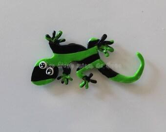 Magnet Salsa la salamandre modèle vert/noir