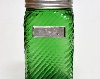 1930s Owens Illinois Tea Pantry Canister Jar