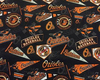 Baltimore Orioles Cotton Fabric by the Yard