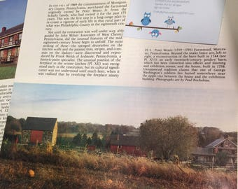 The Peter Wentz Farmstead. Antiques MAGAZINE ARTICLE 1982