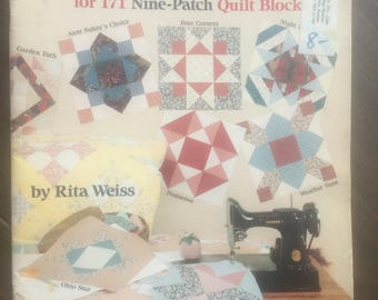 TEMPLATES for 171 Nine-Patch Quilt Blocks.  Free U.S. shipping too