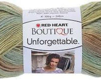 Red Heart Boutique Unforgettable Yarn, Meadow