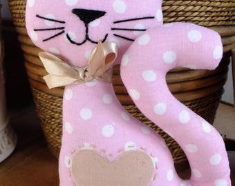 Pink Polkadot Kitty