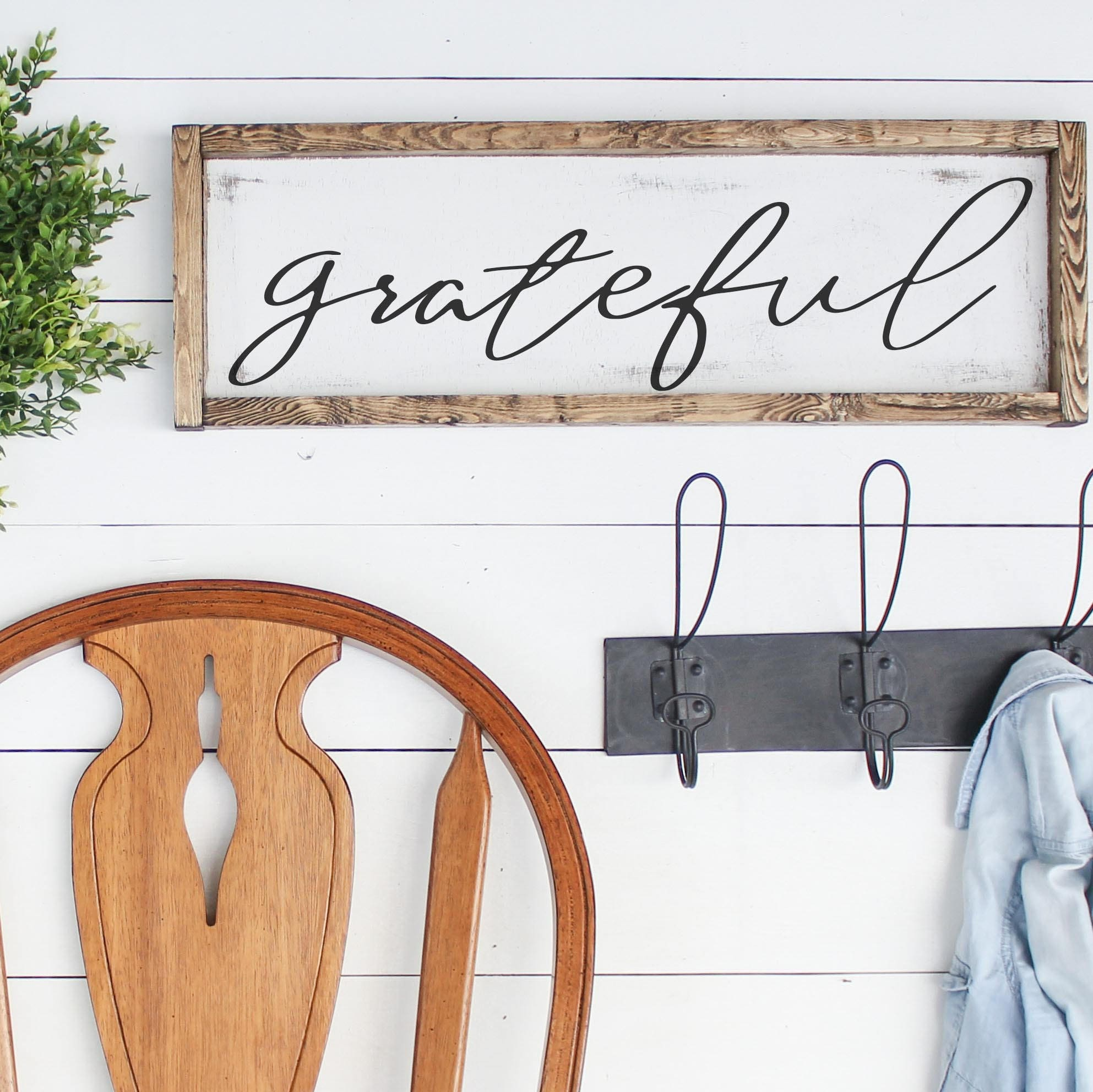 WOOD GRATEFUL SIGN |Dining Room Signs, Fixer Upper Farmhouse Decor,  Farmhouse Signs,
