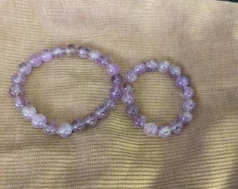 Ametrine Pet Necklace and Bracelet Set