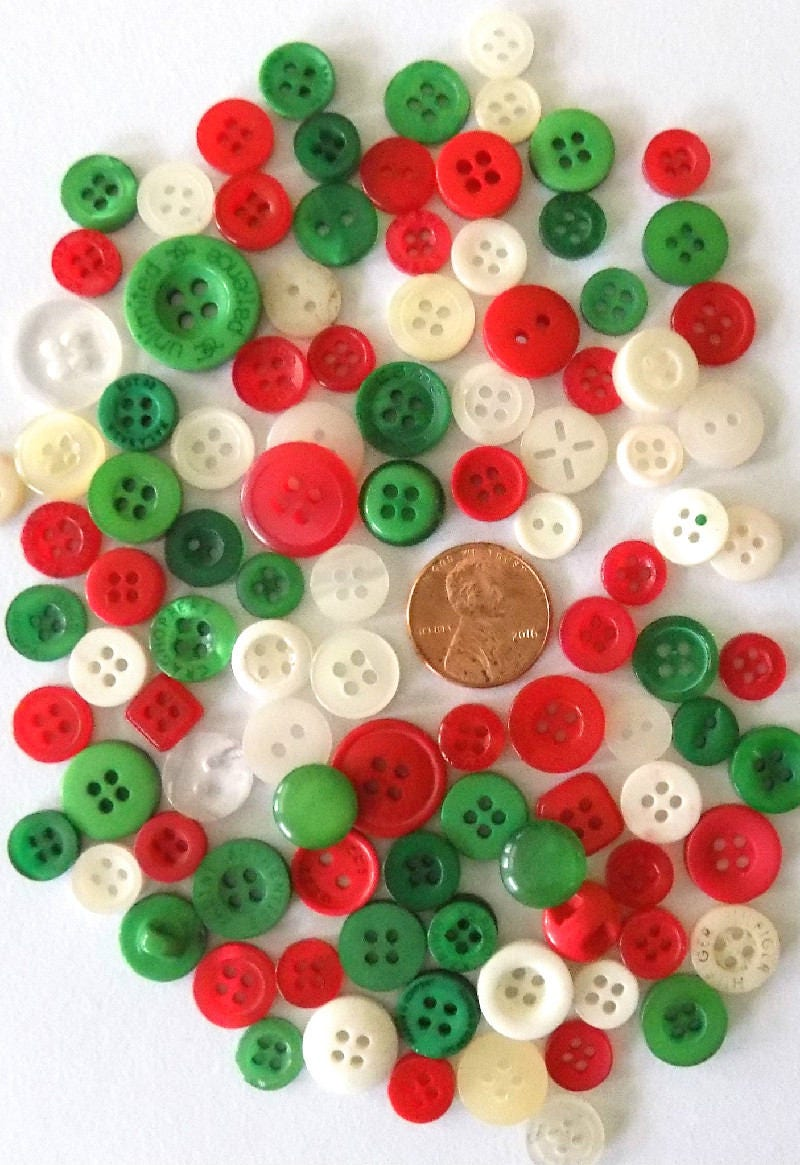 Bulk buttons for crafts - Christmas Buttons Bulk Buttons Small Holiday Crafts Buttons Red Buttons White Buttons Green Buttons Embellishment Bulk Sewing Buttons