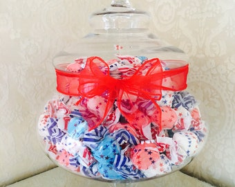 4th of July Salt Water Taffy Jar!