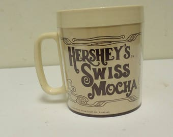 vintage hersheys chocolate cup mug,hersheys swiss mocha,candy advertising