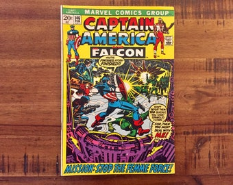 1972 Captain America #146 / Falcon / Marvel  Comics / FN-VG / Shield / Red Skull / Hydra