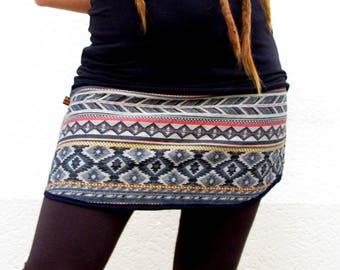 Woven Aztec fabric skirt
